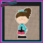 FASHION GIRLIE DESIGN JUTE  SHOPPING LADIES GIFT BAG 06
